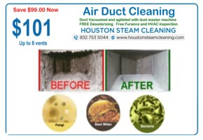 only 101 dollars air duct coupon